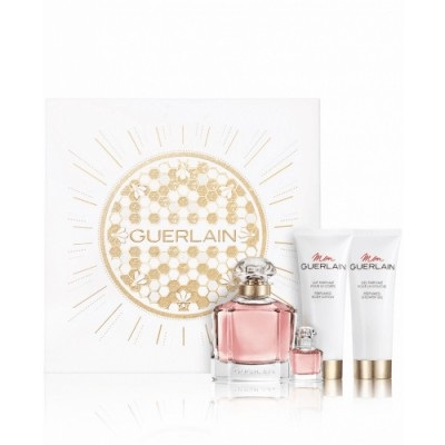 GUERLAIN MON GUERLAIN EDP 100 ML + EDP 5 ML + LECHE PERFUMADA 75 ML + GEL 75 ML SET REGALO