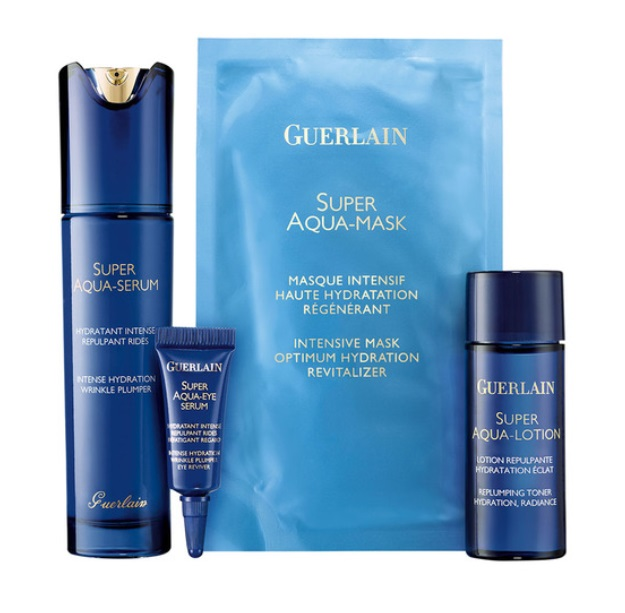 GUERLAIN SUPER AQUA SERUM 50ML + AQUA LOTION 40 ML + EYE SERUM 5 ML SET REGALO