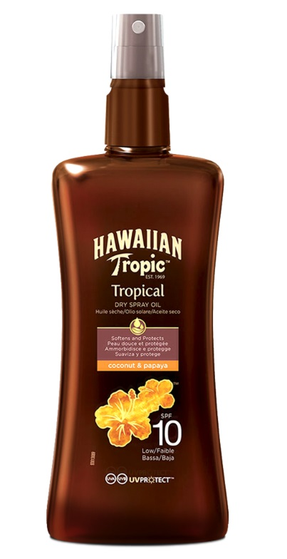 HAWAIIAN TROPIC ACEITE SECO SPRAY SPF 10 200 ML