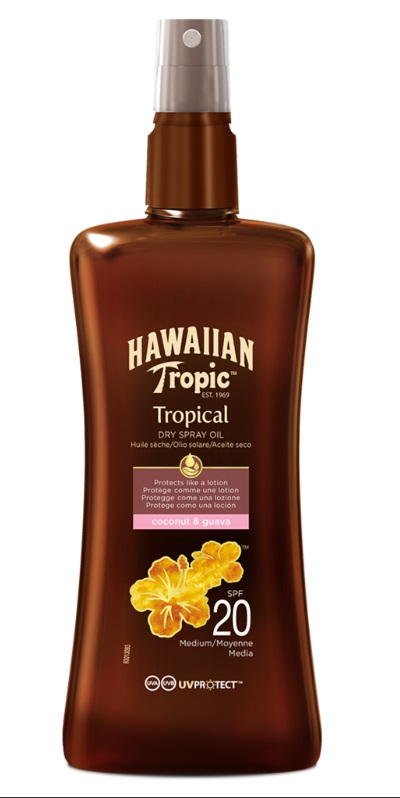 HAWAIIAN TROPIC ACEITE SECO SPRAY SPF20 200 ML