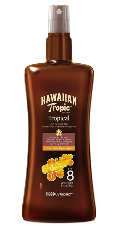 HAWAIIAN TROPIC ACEITE SECO SPRAY SPF 8 200 ML
