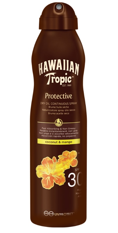 HAWAIIAN TROPIC BRUMA ACEITE SECO FPS 30 180 ML