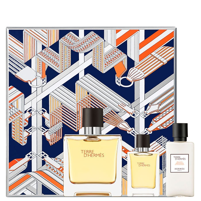HERMES TERRE D\'HERMES EDP 75 ML + 12.5 ML +AS LOTION 40 ML SET REGALO