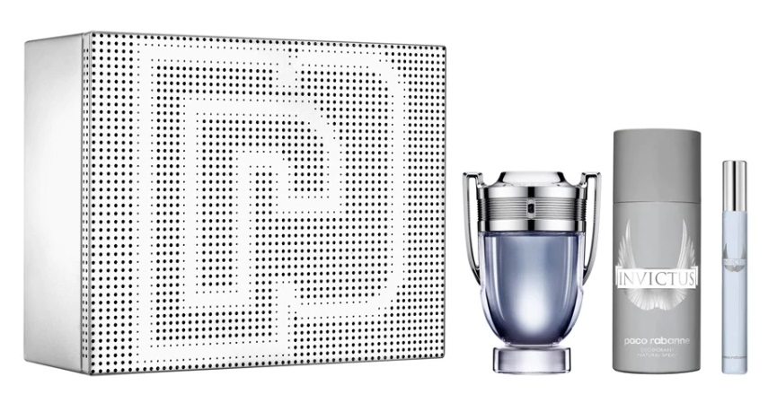 PACO RABANNE INVICTUS EDT 100 ML + DEO VAPO 150 ML + MINI 10 ML SET REGALO