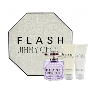 JIMMY CHOO FLASH EDP 100 ML + B/L 100 ML + GEL 100 ML SET REGALO