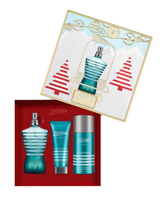 JEAN PAUL GAULTIER JPG LE MALE EDT 125 ML + SG 75 ML + DEO 150 ML VAPO SET REGALO