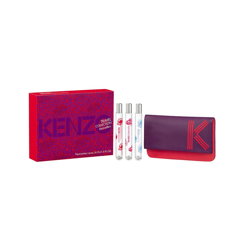 KENZO FLOWER (FLOWER EDP 15 ML + L´EAU PAR KENZO 15 ML+ KENZO FLORALISTA 15 ML) SET REGALO
