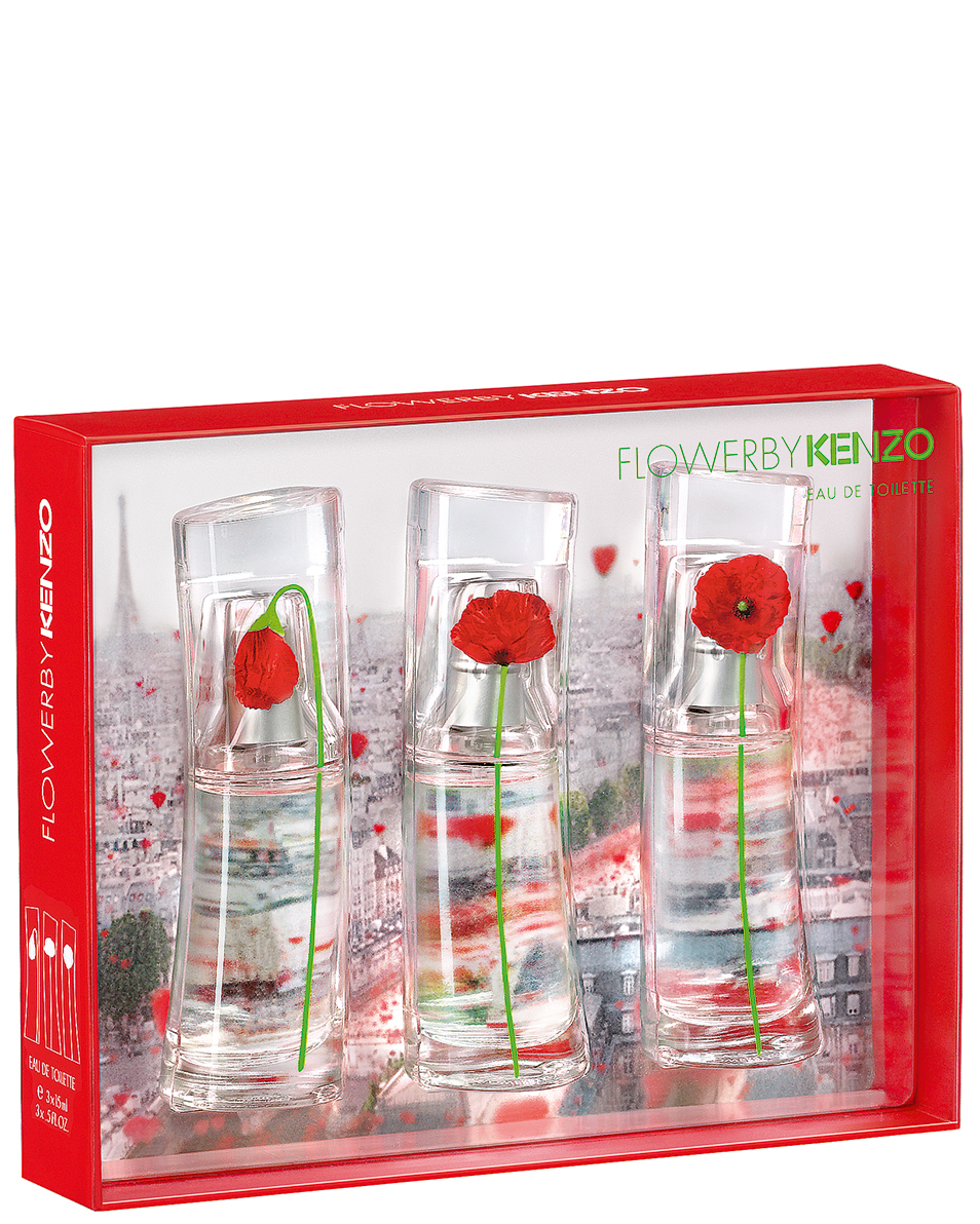 KENZO FLOWER 3 X 15 ML SET REGALO