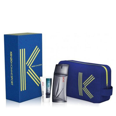KENZO POUR HOMME SPORT EDT 100 ML + A/S 50 ML + NECESER