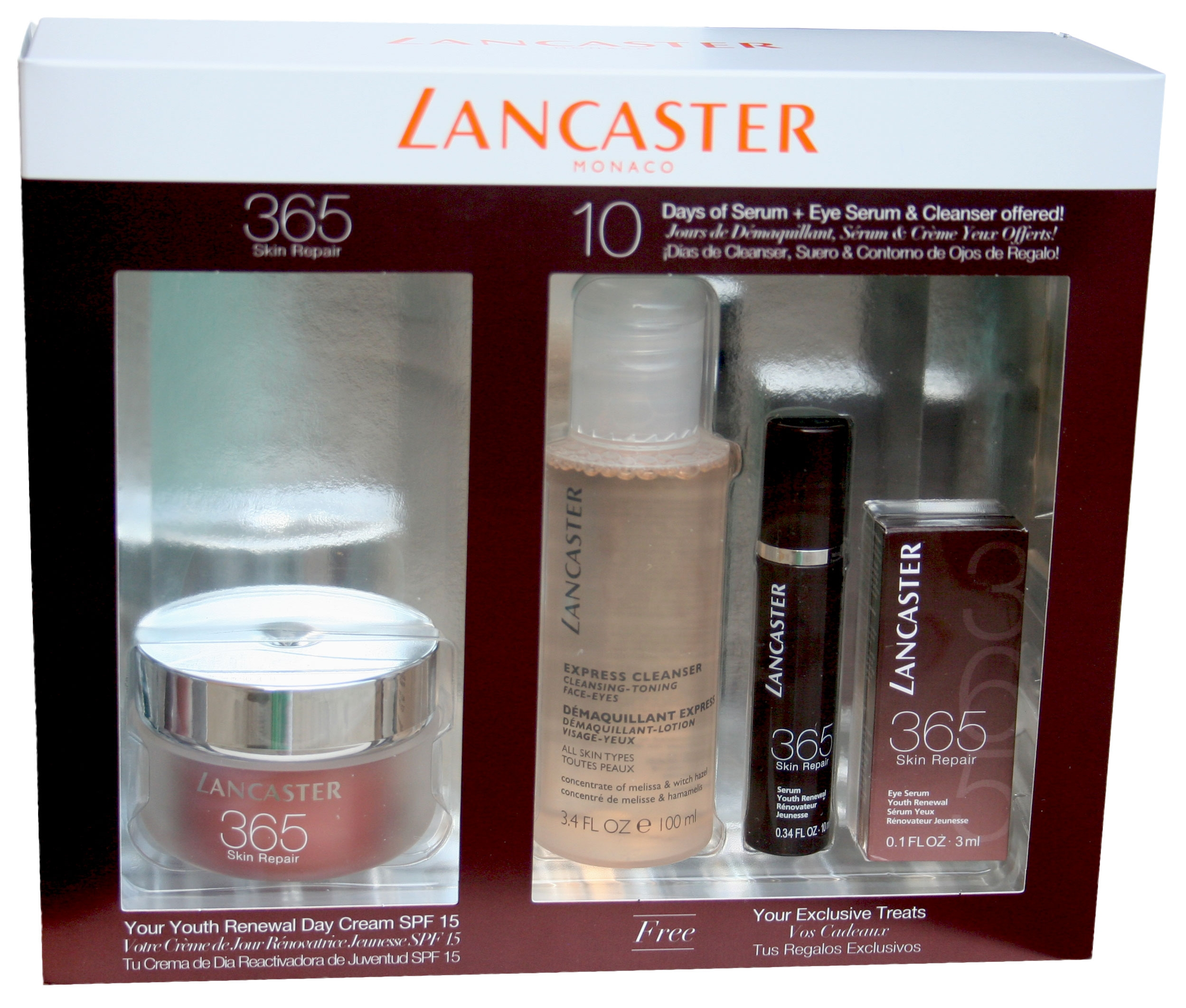 LANCASTER 365 SKIN REPAIR CREMA DIA 50 ML SET REGALO