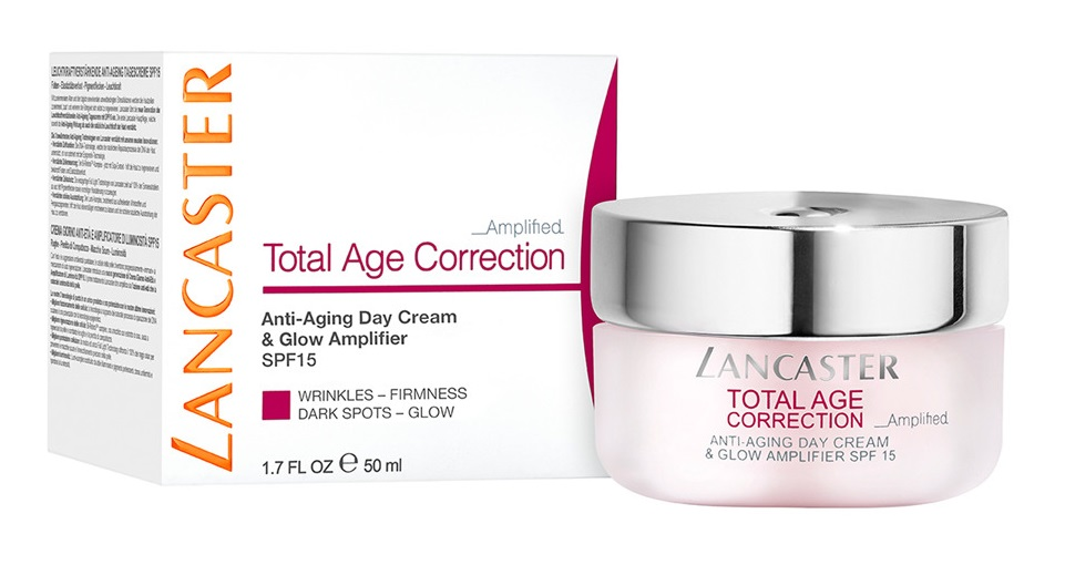 LANCASTER TOTAL AGE CORRECTION ANTI-AGING DAY CREAM GLOW & AMPLIFIER 50 ML