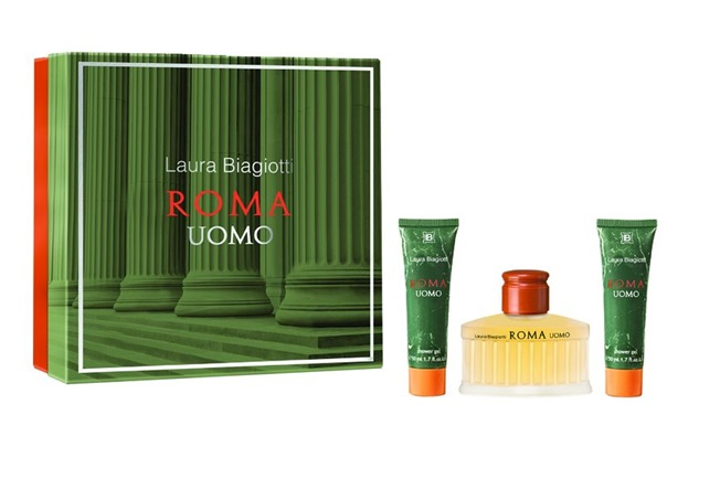 LAURA BIAGIOTTI ROMA UOMO EDT 75 ML +2 x SHOWER GEL 50 ML SET REGALO