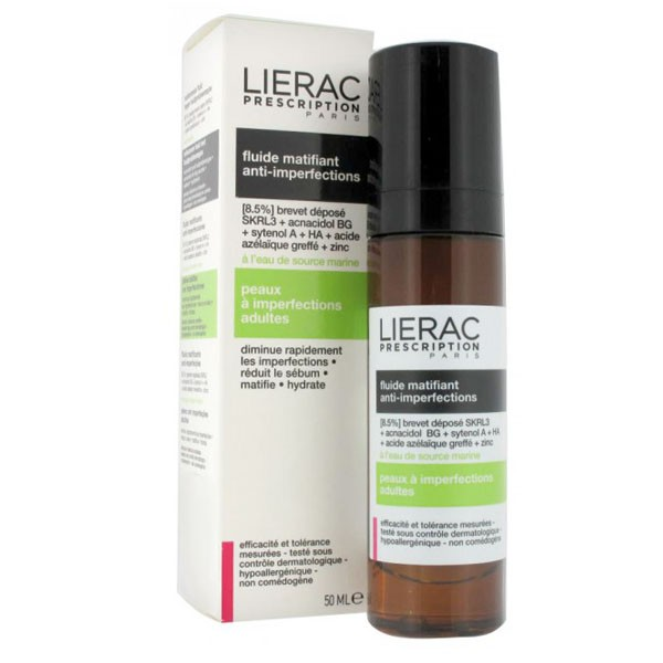 LIERAC PRESCRIPTION FLUIDO MATIFICANTE ANTI IMPERFECCIONES 50 ML