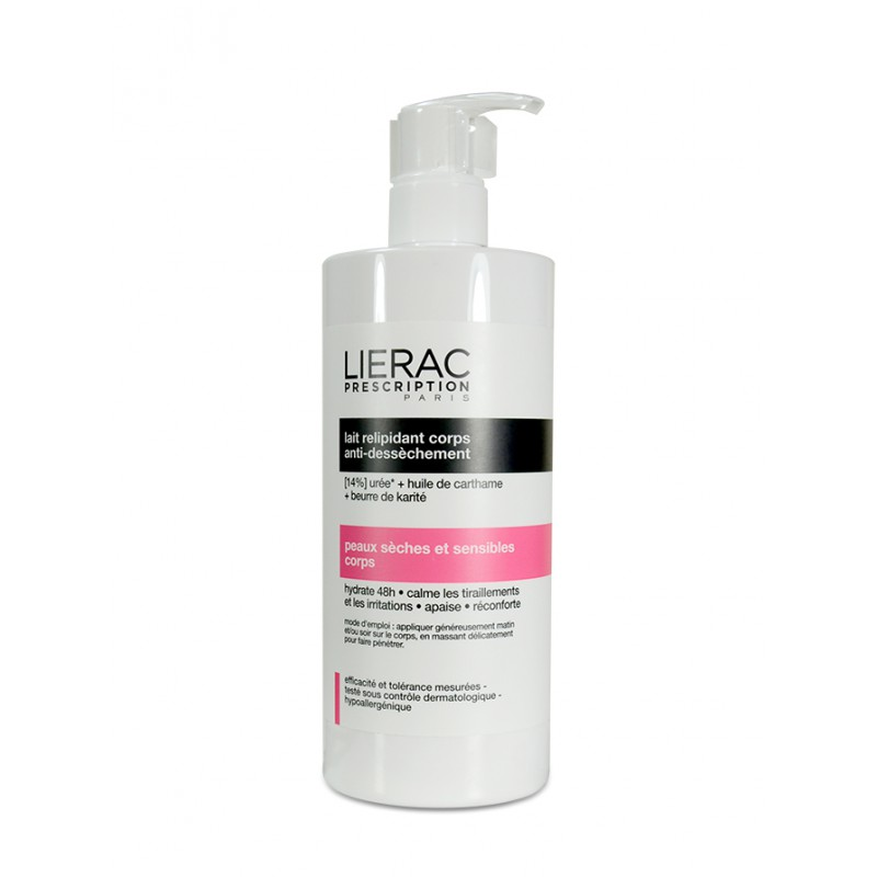 LIERAC PRESCRIPTION LECHE RELIPIDANT CUERPO ANTISEQUEDAD 400 ML