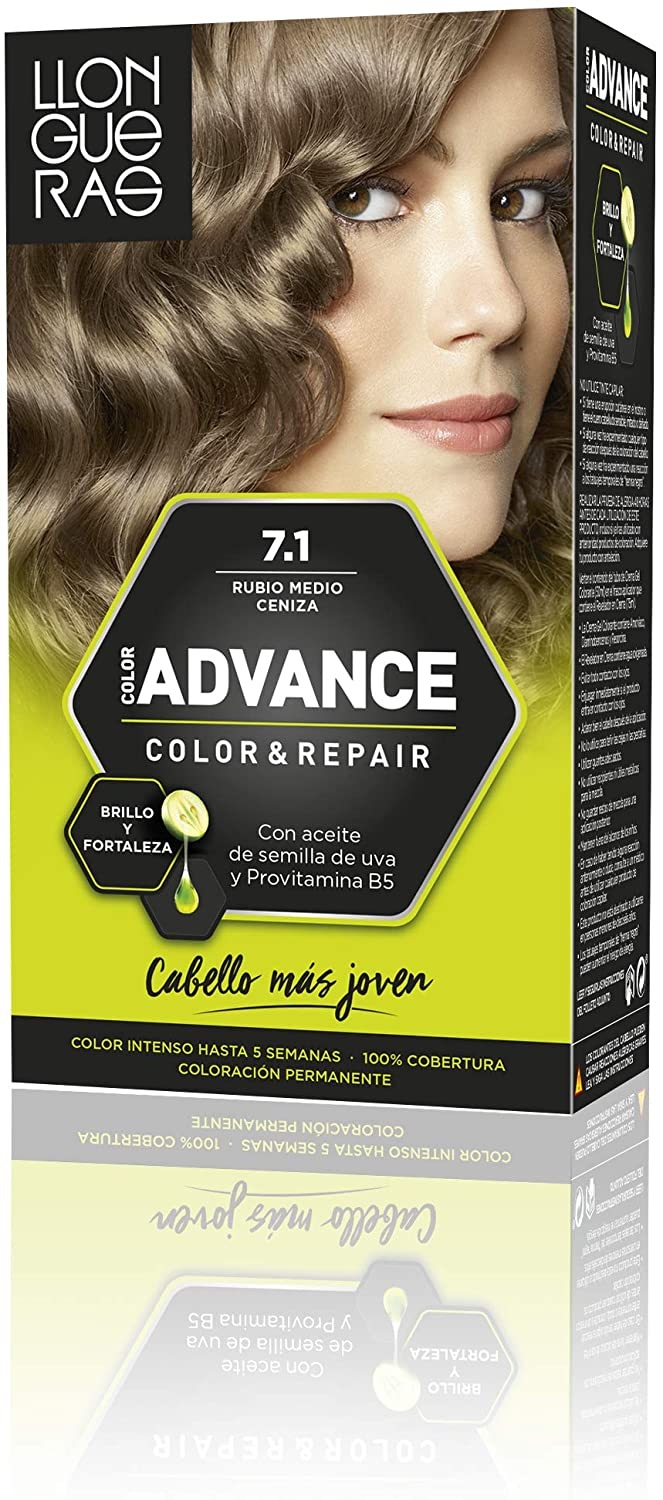 LLONGUERAS COLOR ADVANCE TINTE 7.1 RUBIO MEDIO CENIZA