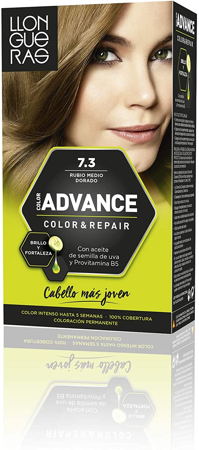 LLONGUERAS COLOR ADVANCE TINTE 7.3 RUBIO MEDIO DORADO