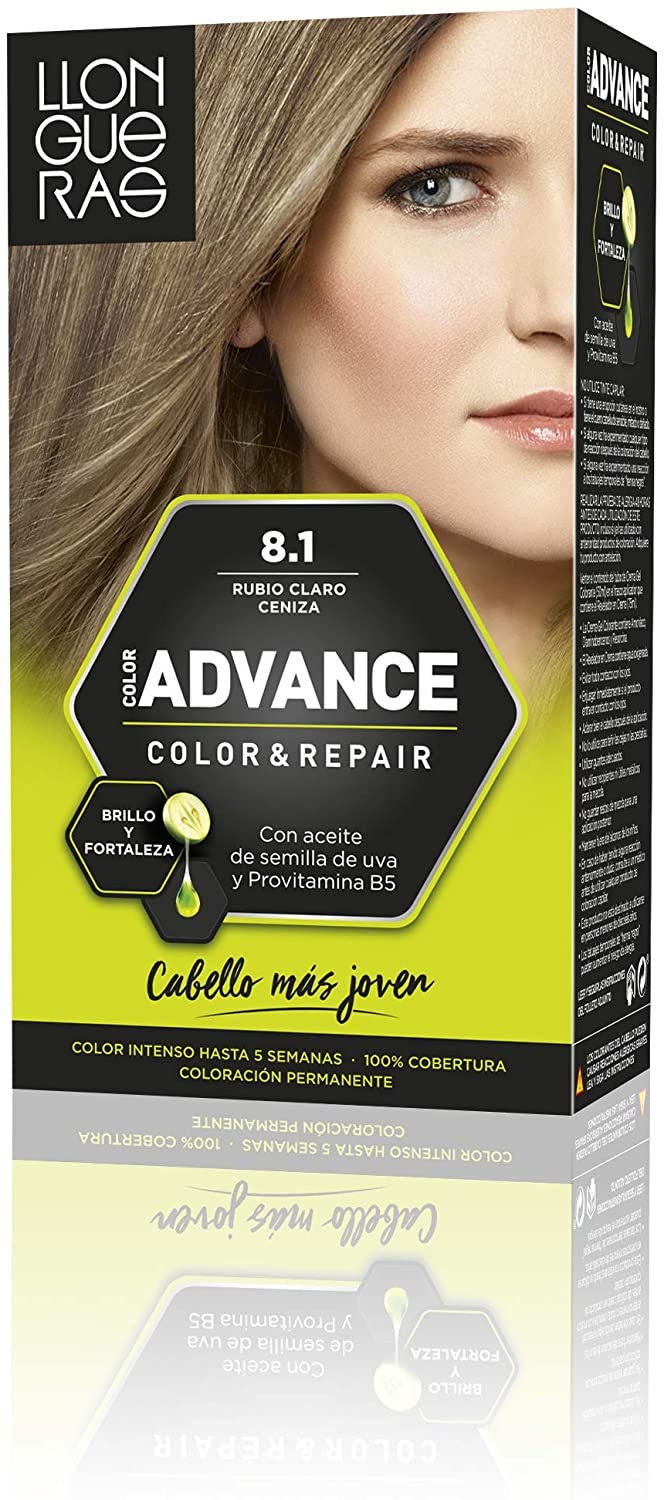 LLONGUERAS COLOR ADVANCE TINTE 8.1 RUBIO CLARO CENIZA