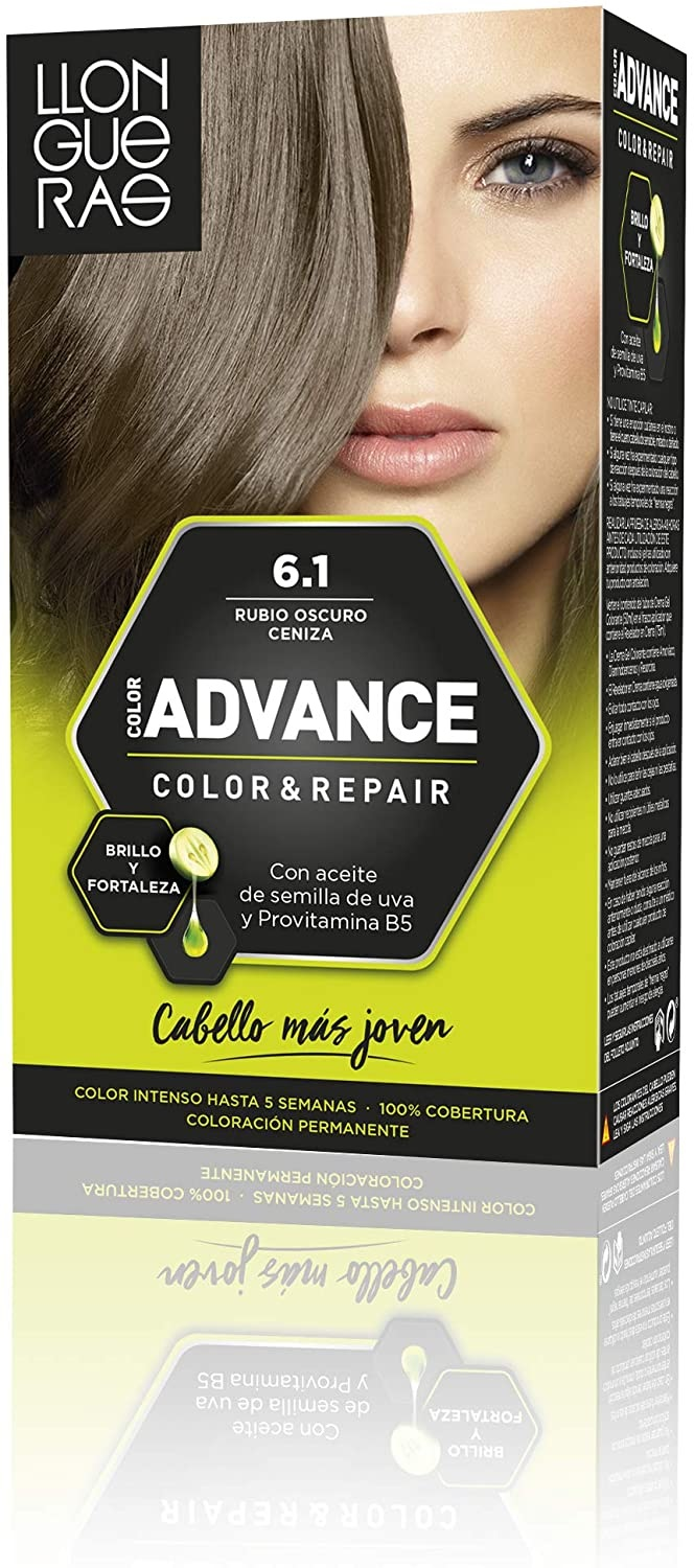 LLONGUERAS COLOR ADVANCE TINTE 6.1 RUBIO OSCURO CENIZA