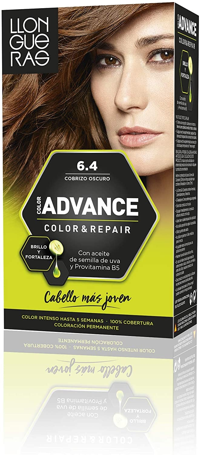 LLONGUERAS COLOR ADVANCE TINTE 6.4 COBRIZO OSCURO