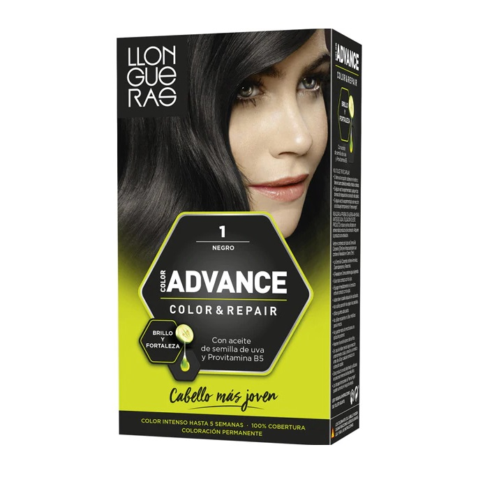 LLONGUERAS COLOR ADVANCE TINTE 1 NEGRO