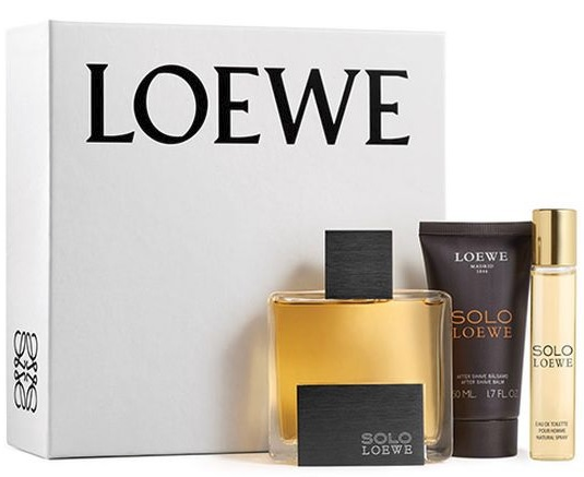 LOEWE SOLO LOEWE EDT 75 ML + A/S BALM 50 ML + MINI EDT 20 ML SET REGALO