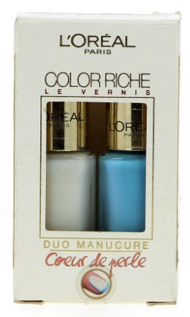 L\'ORÉAL COLOR RICHE DUO MANICURE FROSTED PEARL 009 & BLUE LAGOON 624 5M