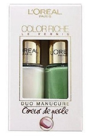 L\'ORÉAL COLOR RICHE DUO MANICURE FRESHWATER PEARL 008 & AQUATIC GREEN 623 5ML