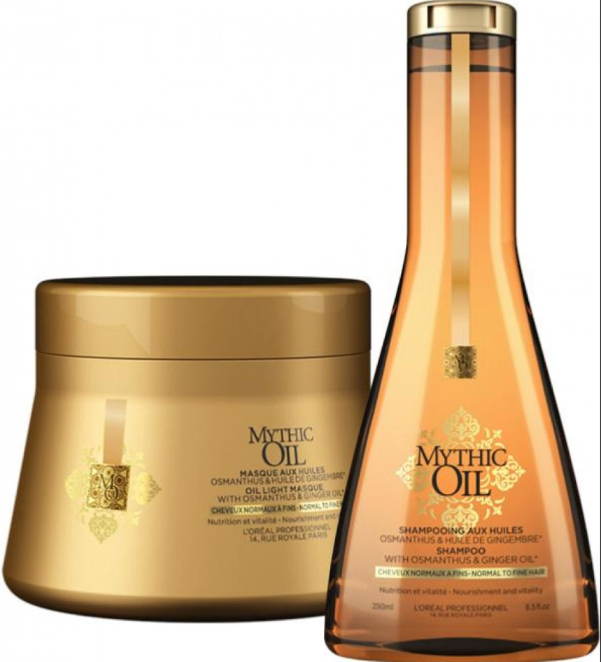 L´OREAL MYTHIC OIL CHAMPU C/NORMALES 250 ML + MASCARILLA 200 ML SET REGALO