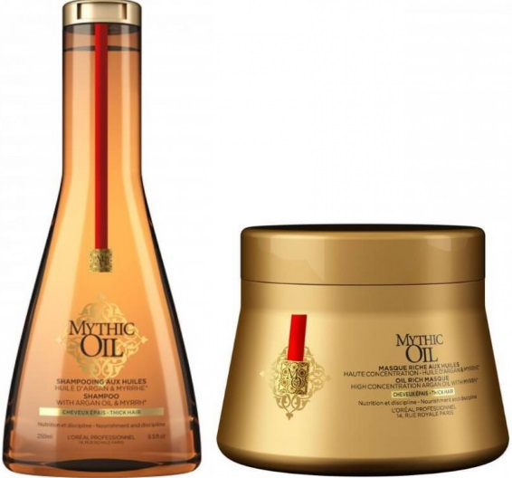 L´OREAL MYTHIC OIL CHAMPU C/FINOS 250 ML + MASCARILLA 200 ML SET REGALO