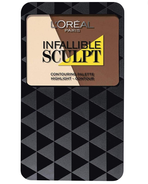 L\'OREAL CONTOURING PALETTE INFALLIBLE SCULPT 03 MED/DARK