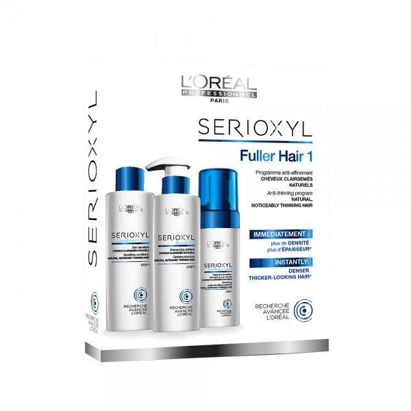 L´OREAL SERIOXYL KIT 1 (CABELLO NORMAL) CONDITIONER 250 ML + MOUSSE 125 ML+ SHAMPOO 250 ML SET