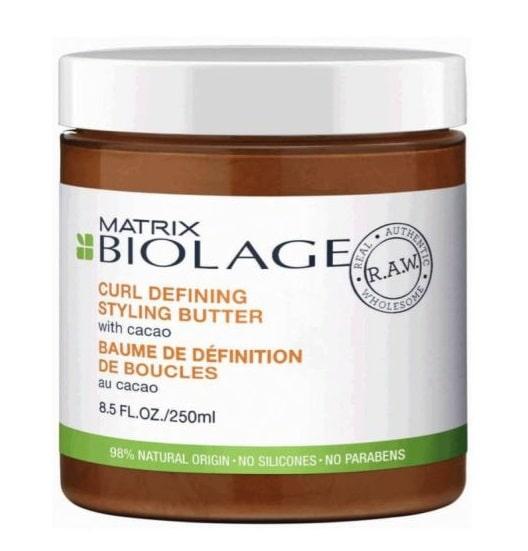 MATRIX BIOLAGE R.A.W. CURL DEFINING STYLING BUTTER 250ML