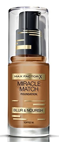 MAX FACTOR MIRACLE MATCH BLUR & NORISH BASE DE MAQUILLAJE 90 TOFFEE 30ML