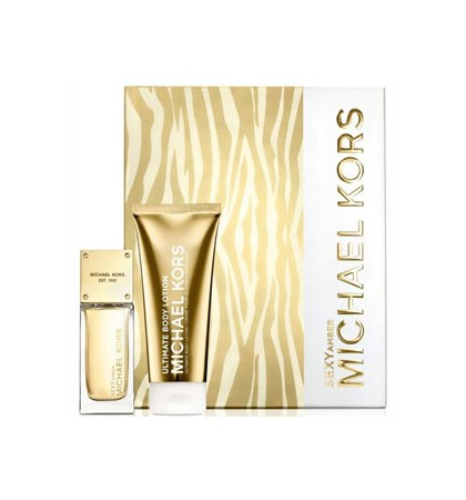 MICHAEL KORS SEXY AMBER EDP 50 ML + B/LOC 100 SET REGALO