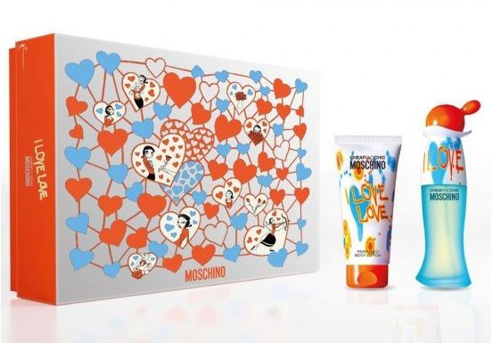 MOSCHINO CHEAP & CHIC I LOVE LOVE EDT 30 ML + B/LOC 50 ML SET REGALO