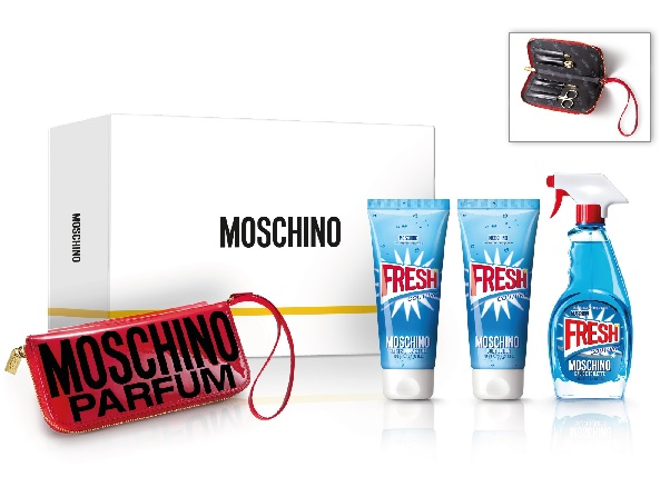 MOSCHINO FRESH COUTURE EDT 100 ML + B/LOC 100 + GEL 100 ML + KIT MANICURA