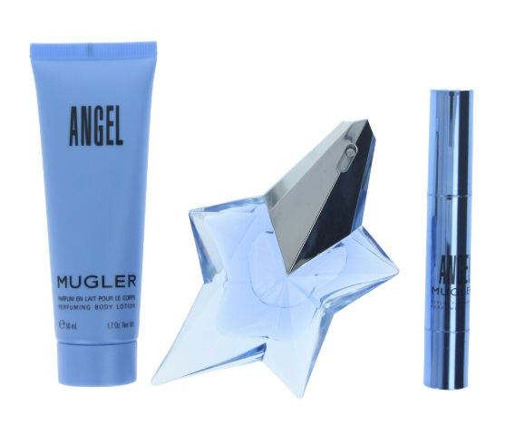 THIERRY MUGLER ANGEL EDP 25 ML + BODY LOCION 50 ML + MINI 3 GR. SET REGALO