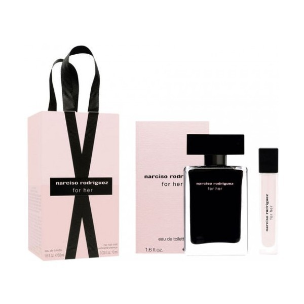 NARCISO RODRIGUEZ EDT 50 ML + HAIR MIST PERFUME CABELLO 10 ML SET REGALO