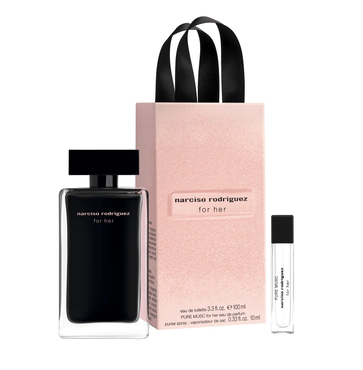 NARCISO RODRIGUEZ FOR HER EDT 100 ML + PURE MUSC EDP 10 ML SET REGALO