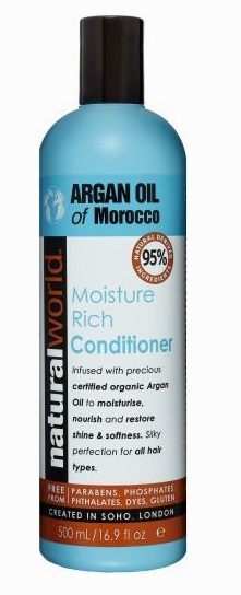NATURAL WORLD MOROCCAN ARGAN OIL MOISTURE RICH CONDITIONER 500 ML