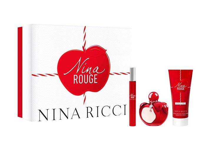 NINA RICCI NINA ROUGE EDT 50 ML + B/L 75 ML + ROLL-ON 10 ML SET REGALO