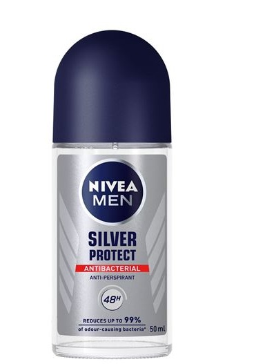 NIVEA MEN SILVER PROTECT DESODORANTE ROLL ON 50 ML