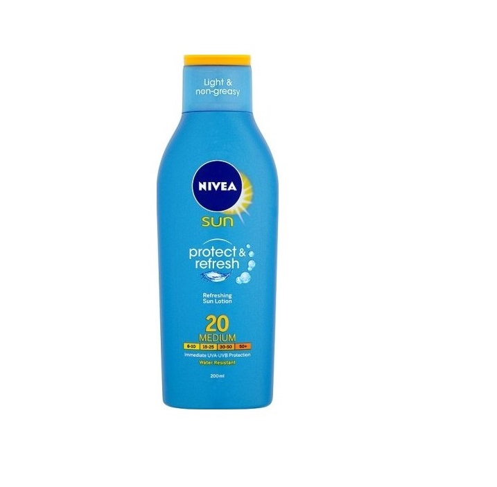 NIVEA SUN PROTECT & REFRESH (PROTEGE & REFRESCA) SPF 20 LOCION 200 ML