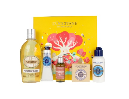 L\'OCCITANE EN PROVENCE CREMA MANOS 30 ML + SHOWER OIL 250 ML + SHAMPOO 35 ML + JABÓN KARITÉ 50 GR + LECHE CORPORAL 75 ML