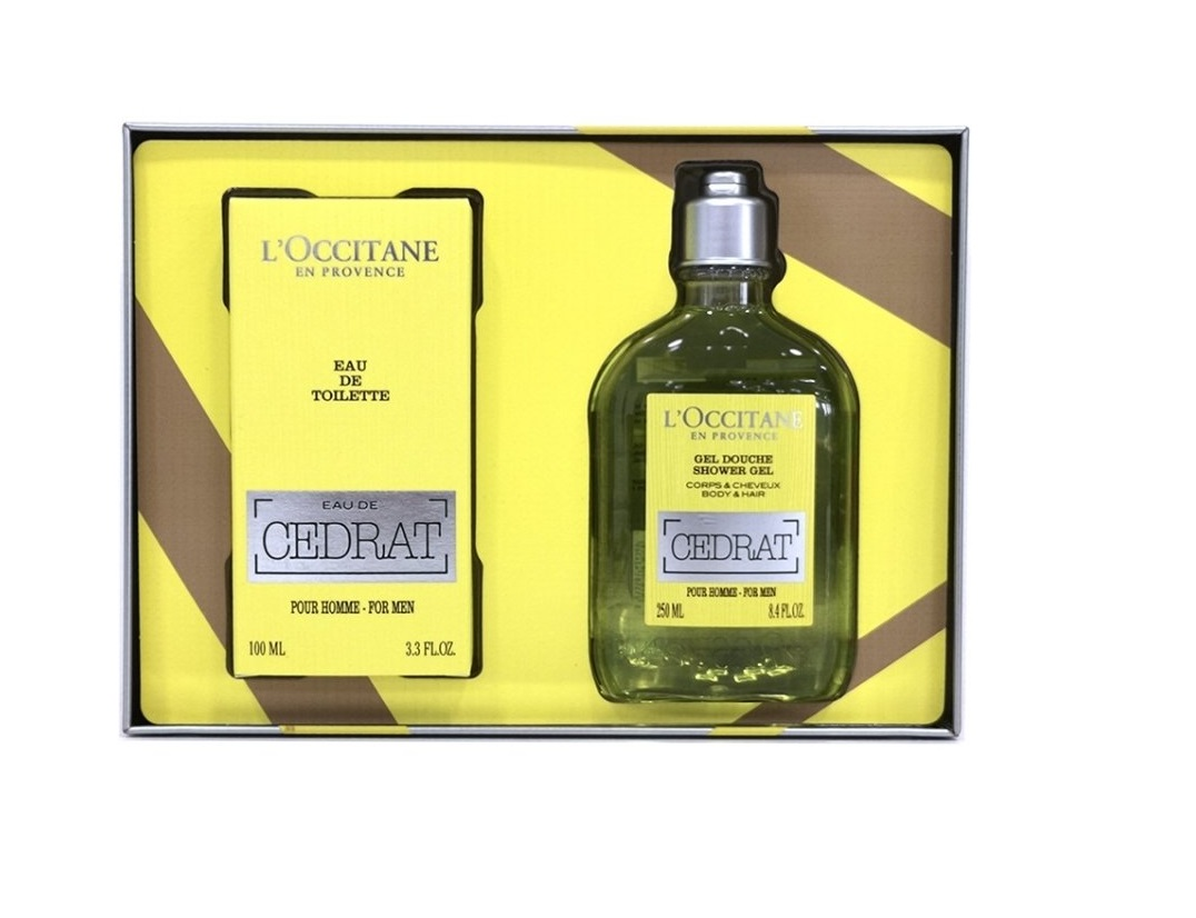 L\'OCCITANE EN PROVENCE EAU DE TOILETTE CÉDRAT EDT 100 ML + SHOWER GEL 250 ML SET REGALO