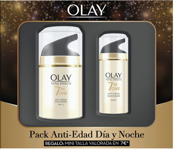 OLAY TOTAL EFFECTS CREMA DE DÍA 50 ML + MINI CREMA DE NOCHE 15 ML