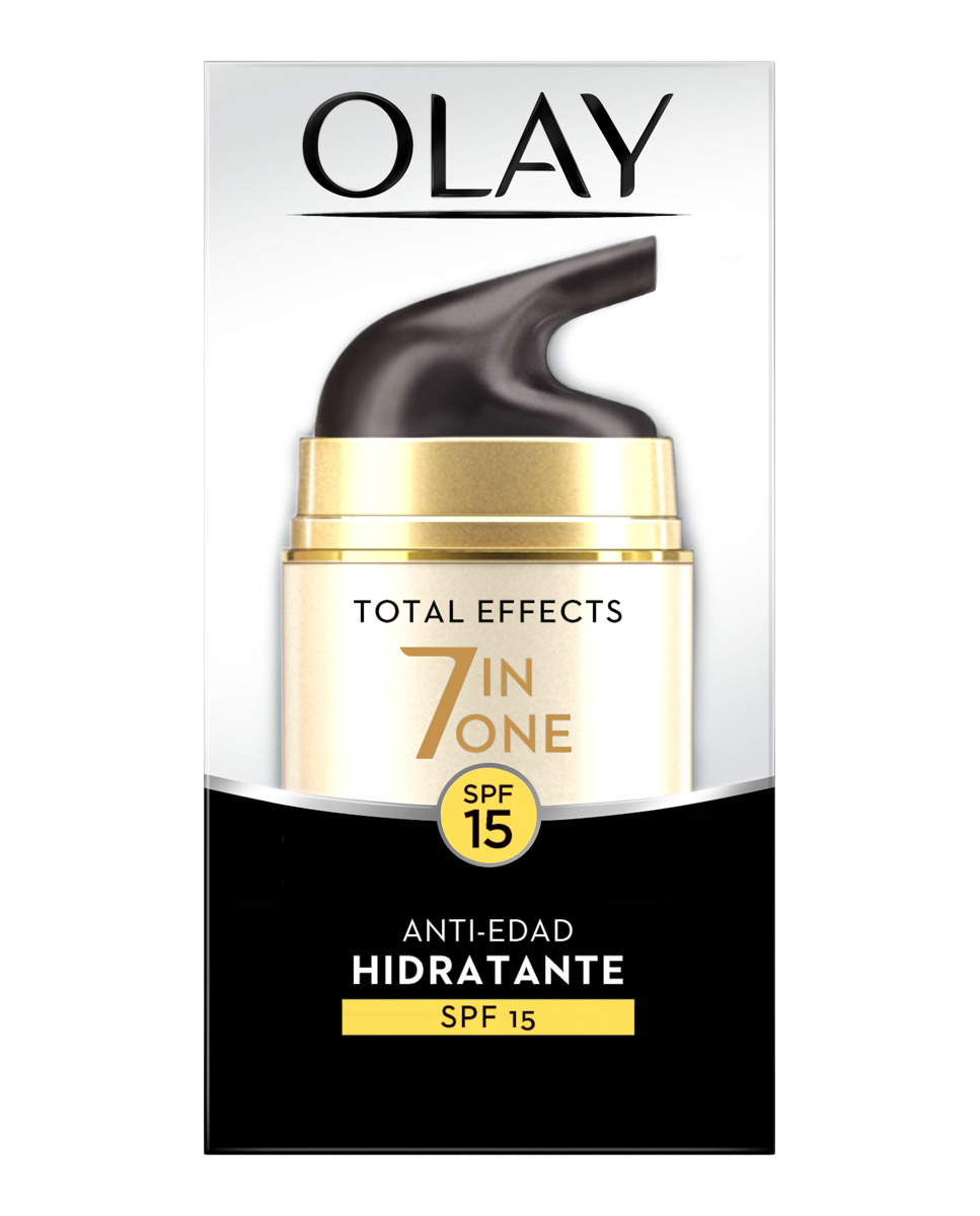 OLAY TOTAL EFFECTS X 7 CREMA DIA ANTIEDAD SPF 15 50 ML NUEVO FORMATO