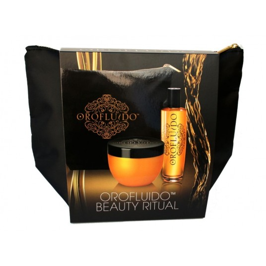 OROFLUIDO BEAUTY ELIXIR 100 ML + MASK 250 ML + NECESER SET REGALO