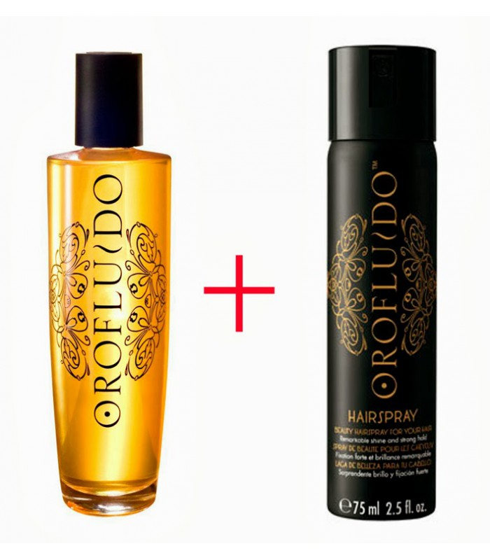 OROFLUIDO SHINE & FINISH (ELIXIR 50 ML + SPRAY 75 ML) SET REGALO