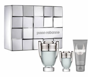 PACO RABANNE INVICTUS EDT 100 ML + MINI EDT 5 ML + S/G 100 ML SET REGALO
